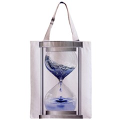 Time Water Movement Drop Of Water Zipper Classic Tote Bag by Celenk