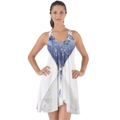 Time Water Movement Drop Of Water Show Some Back Chiffon Dress