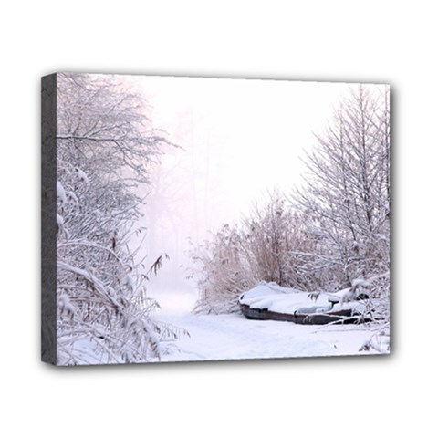Winter Snow Ice Freezing Frozen Canvas 10  X 8  by Celenk