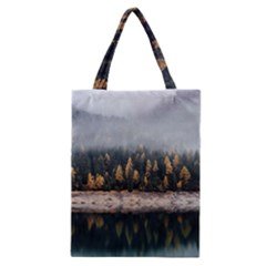 Trees Plants Nature Forests Lake Classic Tote Bag