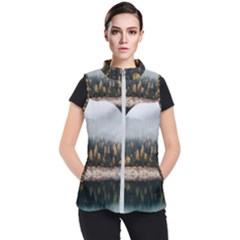 Trees Plants Nature Forests Lake Women s Puffer Vest by Celenk
