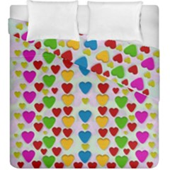 So Sweet And Hearty As Love Can Be Duvet Cover Double Side (king Size) by pepitasart