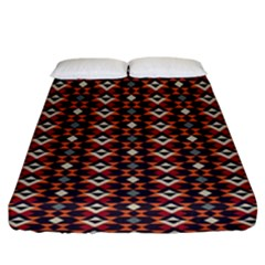 Native American Pattern 22 Fitted Sheet (king Size) by Cveti