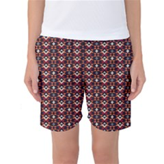 Native American Pattern 22 Women s Basketball Shorts by Cveti