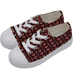 Native American Pattern 22 Kids  Low Top Canvas Sneakers by Cveti