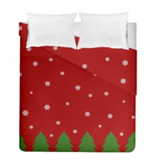 Christmas Pattern Duvet Cover Double Side (full/ Double Size)