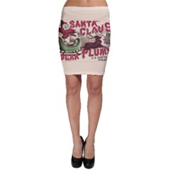 Vintage Santa Claus  Bodycon Skirt