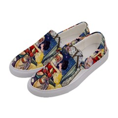 Vintage Santa Claus  Women s Canvas Slip Ons by Valentinaart
