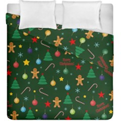Christmas Pattern Duvet Cover Double Side (king Size) by Valentinaart