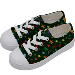 Christmas Pattern Kids  Low Top Canvas Sneakers by Valentinaart