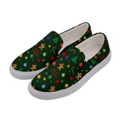 Christmas Pattern Women s Canvas Slip Ons by Valentinaart