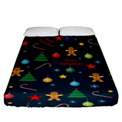 Christmas Pattern Fitted Sheet (king Size) by Valentinaart