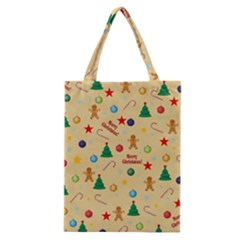 Christmas Pattern Classic Tote Bag by Valentinaart