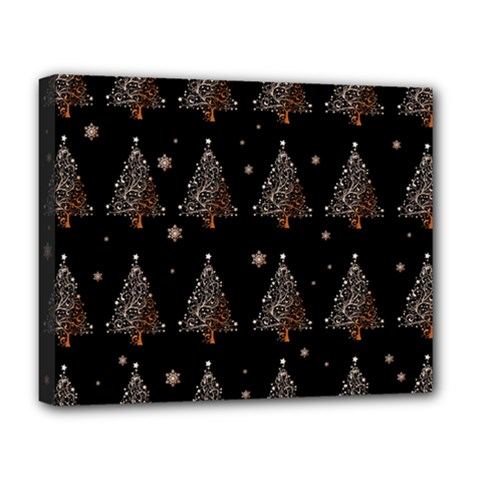 Christmas Tree   Pattern Deluxe Canvas 20  X 16