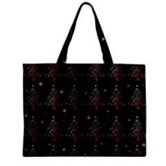 Christmas Tree   Pattern Zipper Mini Tote Bag