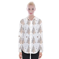 Christmas Tree   Pattern Womens Long Sleeve Shirt by Valentinaart