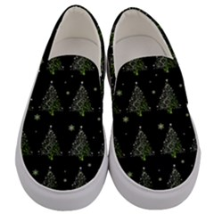 Christmas Tree   Pattern Men s Canvas Slip Ons