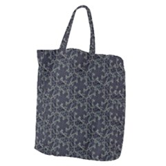 Whirligig Pattern Hand Drawing Grey Giant Grocery Zipper Tote by Cveti