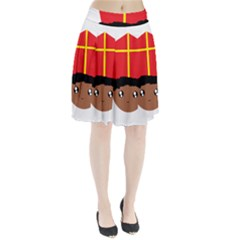 Cutieful Kids Art Funny Zwarte Piet Friend Of St  Nicholas Wearing His Miter Pleated Skirt by yoursparklingshop