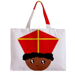 Cutieful Kids Art Funny Zwarte Piet Friend Of St  Nicholas Wearing His Miter Medium Tote Bag by yoursparklingshop