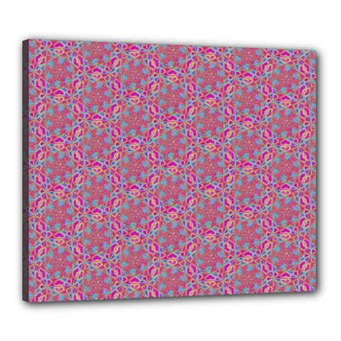 Whirligig Pattern Hand Drawing Pink 01 Canvas 24  X 20  by Cveti