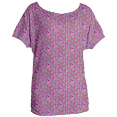 Whirligig Pattern Hand Drawing Pink 01 Women s Oversized Tee