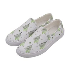 Christmas Tree   Pattern Women s Canvas Slip Ons by Valentinaart