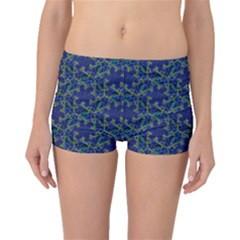 Whirligig Hand Drawing Geometric Pattern Blue Boyleg Bikini Bottoms by Cveti