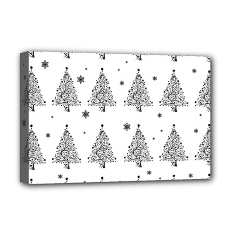 Christmas Tree   Pattern Deluxe Canvas 18  X 12   by Valentinaart