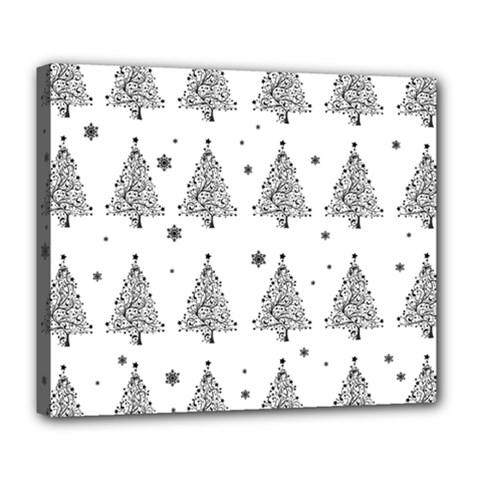 Christmas Tree   Pattern Deluxe Canvas 24  X 20