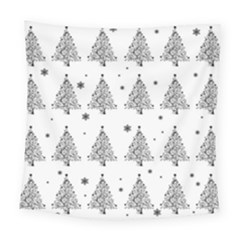 Christmas Tree   Pattern Square Tapestry (large) by Valentinaart