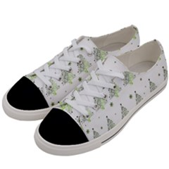 Christmas Tree   Pattern Women s Low Top Canvas Sneakers by Valentinaart
