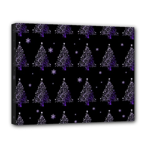 Christmas Tree   Pattern Canvas 14  X 11  by Valentinaart