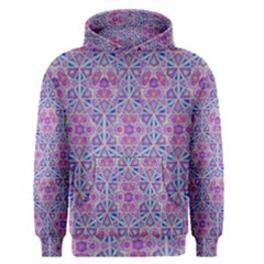 Star Tetrahedron Hand Drawing Pattern Purple Men s Pullover Hoodie by Cveti