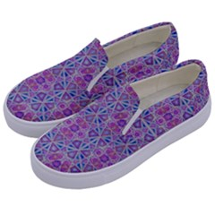 Star Tetrahedron Hand Drawing Pattern Purple Kids  Canvas Slip Ons by Cveti