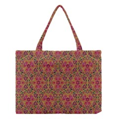 Star Tetrahedron Pattern Red Medium Tote Bag by Cveti