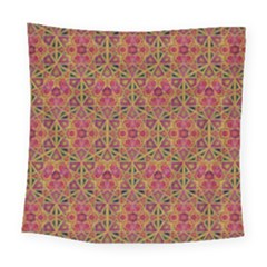 Star Tetrahedron Pattern Red Square Tapestry (large) by Cveti