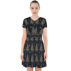 Christmas Tree   Pattern Adorable In Chiffon Dress