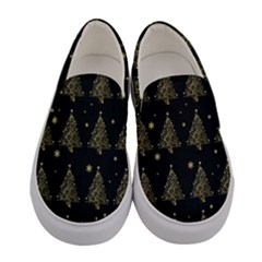 Christmas Tree   Pattern Women s Canvas Slip Ons