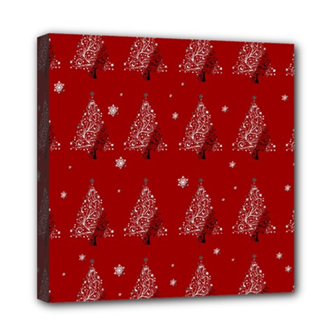Christmas Tree   Pattern Mini Canvas 8  X 8  by Valentinaart