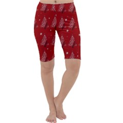 Christmas Tree   Pattern Cropped Leggings