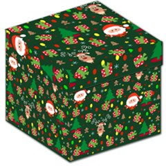 Santa And Rudolph Pattern Storage Stool 12