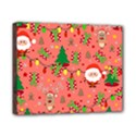 Santa and Rudolph pattern Canvas 10  x 8  View1