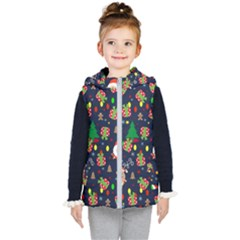 Santa And Rudolph Pattern Kid s Puffer Vest