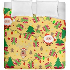 Santa And Rudolph Pattern Duvet Cover Double Side (king Size)