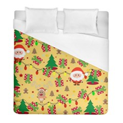 Santa And Rudolph Pattern Duvet Cover (full/ Double Size)