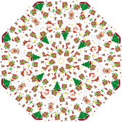 Santa And Rudolph Pattern Straight Umbrellas by Valentinaart