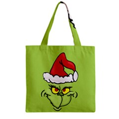 Grinch Zipper Grocery Tote Bag