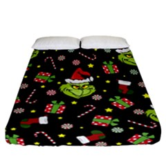 Grinch Pattern Fitted Sheet (california King Size)