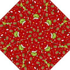 Grinch Pattern Straight Umbrellas by Valentinaart